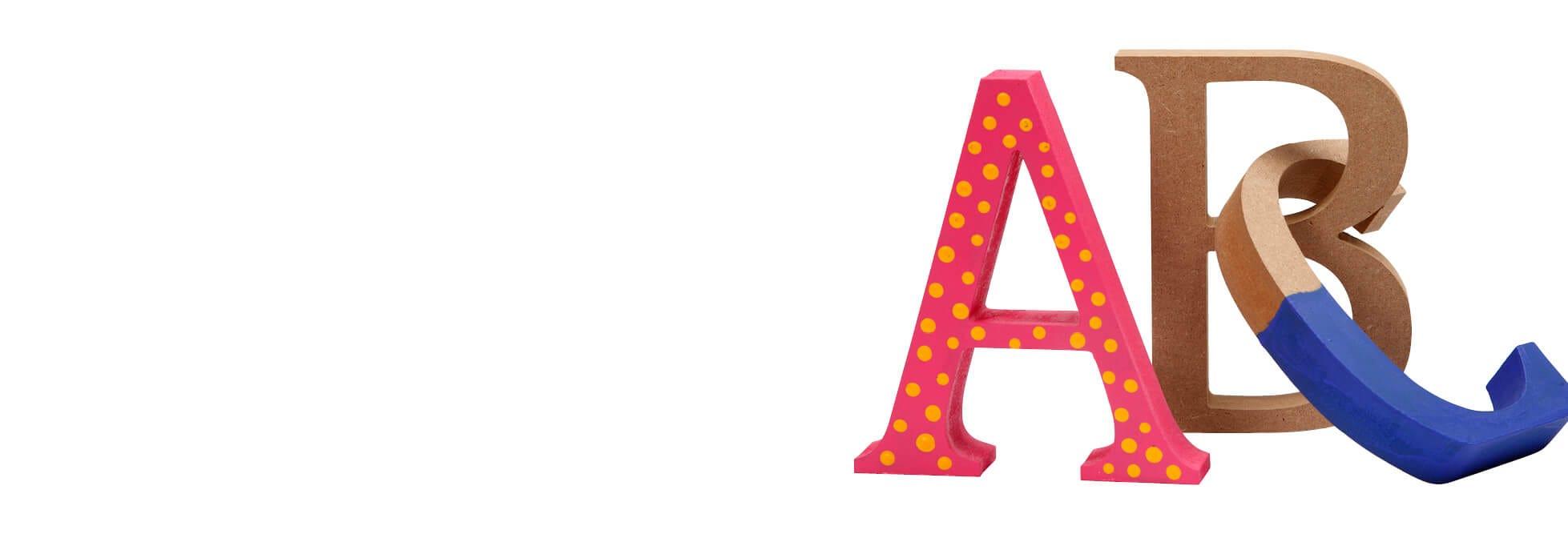 Lettere, numeri e parole