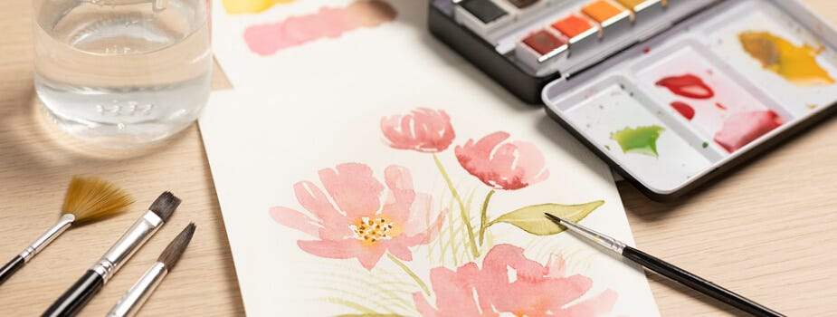 Pittura acquerelli