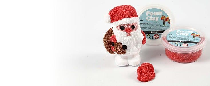 Decorazioni con Foam Clay e Silk Clay per Natale