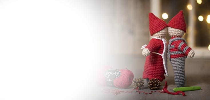 Decori di Natale a maglia e all'uncinetto