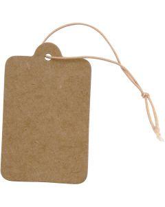 Etichette, misura 25x40 mm, marrone chiaro, 100 pz/ 1 conf.