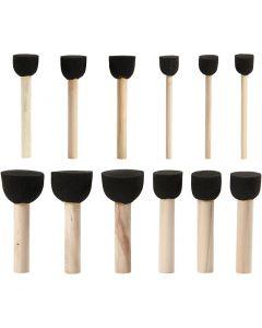 Pennelli di gomma per stencil, diam: 13+20+25+35 mm, 12 pz/ 1 conf.
