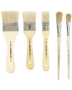 Set pennelli per vernice, L: 13+17+25+35+50 mm, 10 pz/ 1 conf.