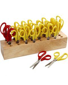 Forbici per bambini, L: 12,5 cm, rund, 1 set