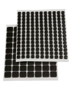 Quadrati di gomma adesivi 3D, misura 5x5x2 mm, nero, 217 asst./ 1 conf.