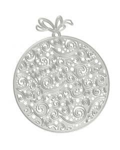 Mascherina per embossing e fustella, ornamenti natalizi, diam: 9x11 cm, 1 pz