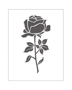 Mascherina per embossing, rosa, misura 11x14 cm, spess. 2 mm, 1 pz