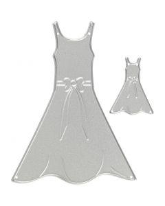 Mascherina per embossing e fustella, abiti, misura 27x35+26x90 mm, 1 pz