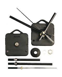 Meccanismo per orologio, spessore piastra massimo 10 mm, nero, 1 set
