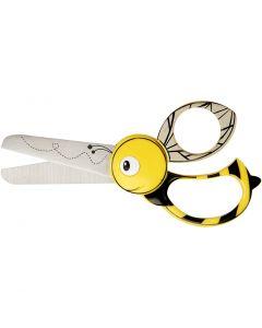 Forbici animali per bambini, ape, L: 13 cm, 1 pz