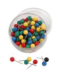Spilli colorati, L: 17 mm, diam: 6 mm, 100 asst./ 1 conf.