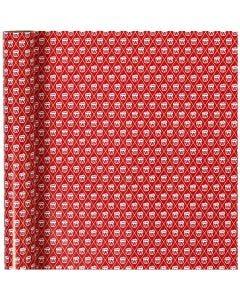 Confezione regalo, tamburi, L: 70 cm, 80 g, rosso, bianco, 4 m/ 1 rot.