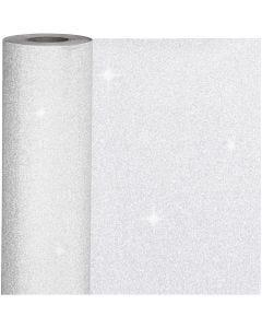 Confezione regalo, L: 50 cm, 80 g, argento, 100 m/ 1 rot.