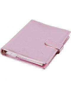 Agenda, misura 19x23,5x4 cm, cartelletta ad anelli, rosato, 1 pz
