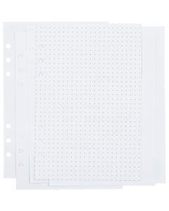 Pagine per calendario, puntini, misura 142x210 mm, 36 , 120 g, bianco, 1 pz/ 1 conf.