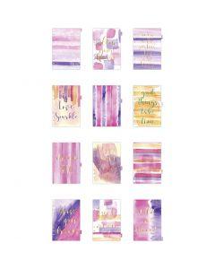 Indice divisorio, A5, 12 , oro, viola, rosato, 1 pz/ 1 conf.