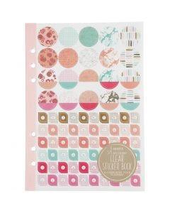 Libro stickers, acquarello, A5, oro, rosso, corallo, 1 pz/ 1 conf.
