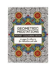 Libro da colorare Mindfullness, forme geometriche, misura 10,5x14,5 cm, 20 , 1 pz