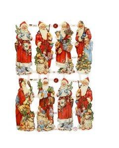 Figure fustellate vintage, Babbo Natale, 16,5x23,5 cm, 3 fgl./ 1 conf.