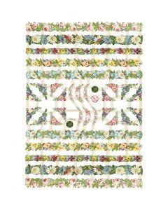Figure fustellate vintage, fiori, 16,5x23,5 cm, 3 fgl./ 1 conf.