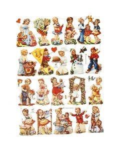 Figure fustellate vintage, Bambini Vintage, 16,5x23,5 cm, 2 fgl./ 1 conf.