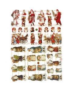 Figure fustellate vintage, Babbo Natale, 16,5x23,5 cm, 2 fgl./ 1 conf.