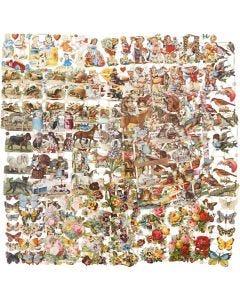 Figure fustellate vintage, Tutto l'anno, 16,5x23,5 cm, 30 fgl. asst./ 1 conf.