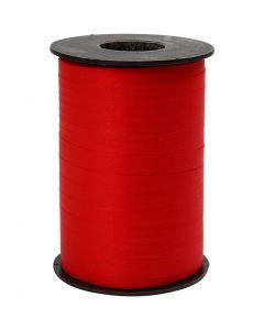 Nastro arricciabile, L: 10 mm, opaco, rosso, 250 m/ 1 rot.