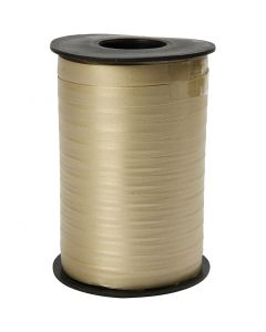 Nastro arricciabile, L: 10 mm, opaco, oro, 250 m/ 1 rot.
