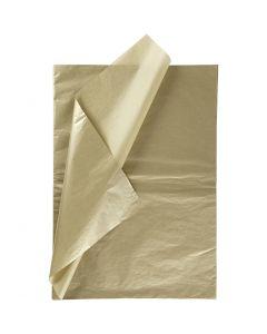 Carta velina, 50x70 cm, 14 g, oro, 6 fgl./ 1 conf.