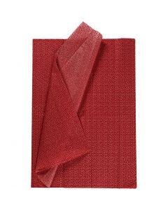 Carta velina, 50x70 cm, 17 g, rosso, 6 fgl./ 1 conf.