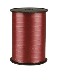Nastro arricciabile, L: 10 mm, brillante, rubino, 250 m/ 1 rot.