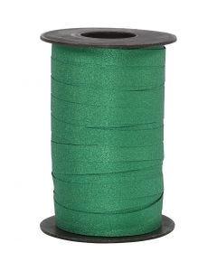 Nastro arricciabile, L: 10 mm, glitter, verde, 100 m/ 1 rot.