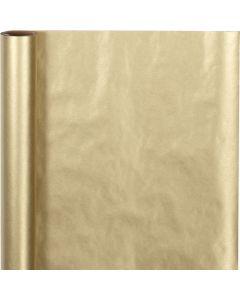 Carta regalo, L: 50 cm, 60 g, oro, 5 m/ 1 rot.