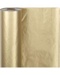 Carta regalo, L: 50 cm, 60 g, oro, 100 m/ 1 rot.
