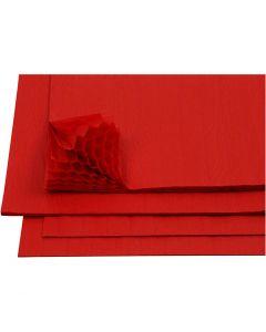 Carta a nido d'ape, 28x17,8 cm, rosso, 8 fgl./ 1 conf.
