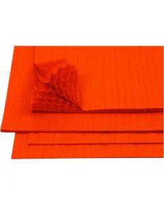Carta a nido d'ape, 28x17,8 cm, arancio, 8 fgl./ 1 conf.