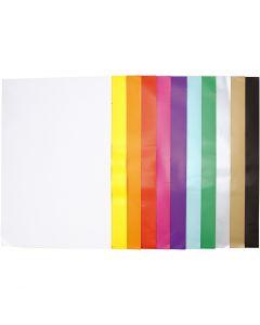 Carta smaltata, 32x48 cm, 80 g, colori asst., 11x25 fgl./ 1 conf.