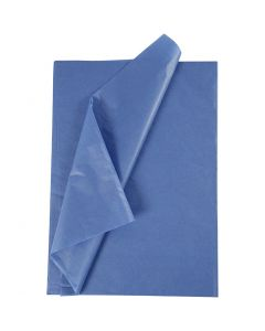 Carta velina, 50x70 cm, 14 g, blu, 25 fgl./ 1 conf.