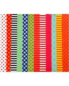 Carta smaltata, a motivi, 24x32 cm, 80 g, colori asst., 50 fgl. asst./ 1 conf.