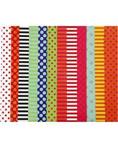 Carta smaltata, a motivi, 32x48 cm, 80 g, colori asst., 100 fgl. asst./ 1 conf.