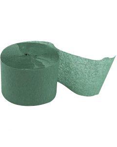 Strisce di carta crespa, L: 20 m, L: 5 cm, verde, 20 rot./ 1 conf.