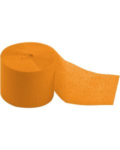 Strisce di carta crespa, L: 20 m, L: 5 cm, giallo, 20 rot./ 1 conf.