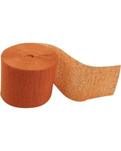 Strisce di carta crespa, L: 20 m, L: 5 cm, arancio, 20 rot./ 1 conf.