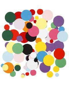 Ritagli per mosaici, rotondo, diam: 10+15+20 mm, 180 g/ 1 conf.