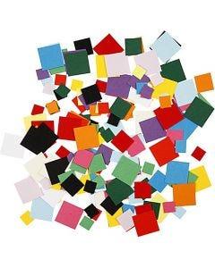 Ritagli per mosaici, quadrato, misura 10+15+20 mm, 180 g/ 1 conf.