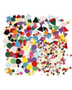 Ritagli per mosaici, misura 10+15+20 mm, colori asst., 8x180 g/ 1 conf.