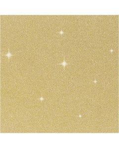 Pellicola glitter, L: 35 cm, spess. 110 my, oro, 2 m/ 1 rot.