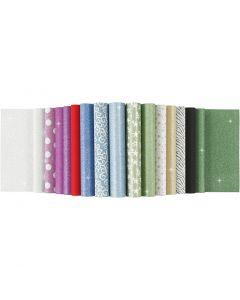 Blocchi carta glitter, A4, 210x297 mm, 150 g, 30 fgl./ 1 pz
