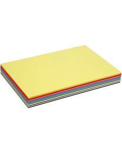 Cartoncino colorato, A3, 297x420 mm, 180 g, colori asst., 300 fgl. asst./ 1 conf.